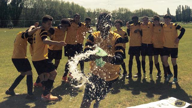 AEK u14 Champions 2015 celebrations